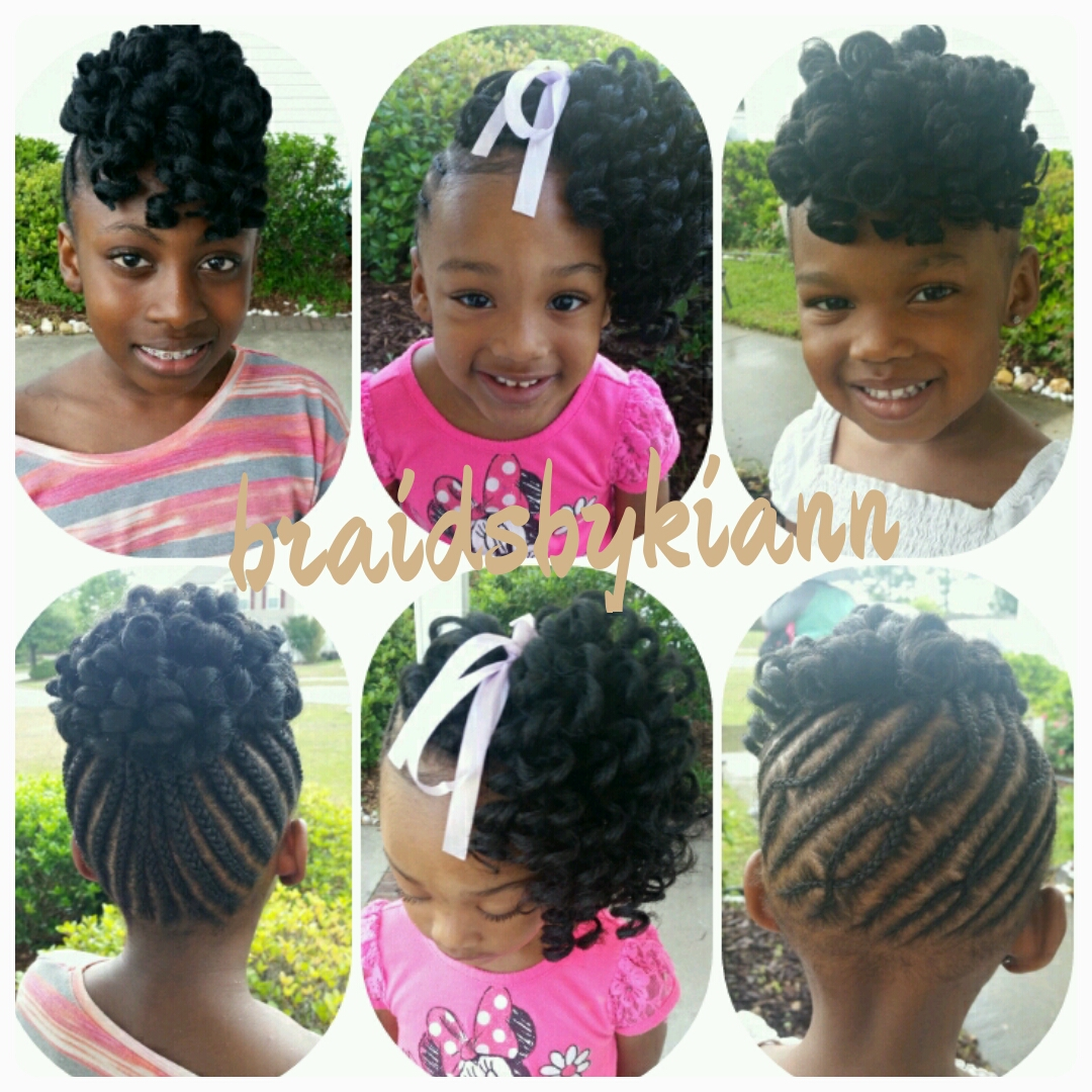 Kids Braids Kinky Twist Senegalese Twist Havana Twist Buns
